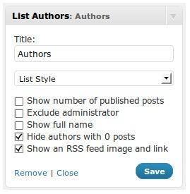 Как вывести список авторов блога | List Authors Widget
