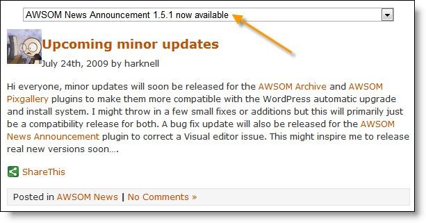 Как сделать выпадающий архив записей | AWSOM Drop Down Archive