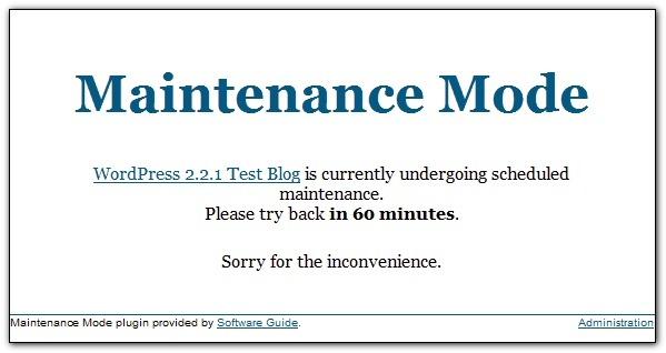 Как поставить на блог заглушку Сайт на реконструкции | Maintenance Mode