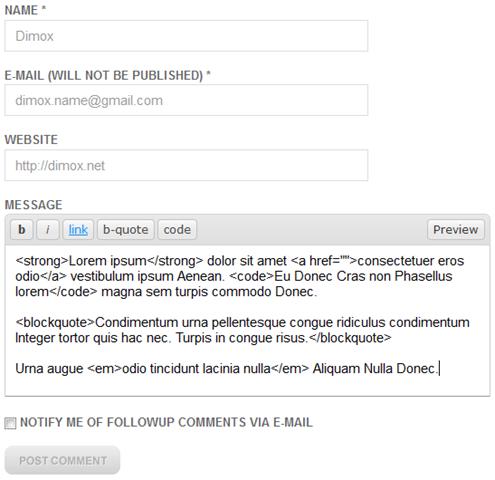 Как сделать превью комментария перед отправкой   jQuery Comment Preview