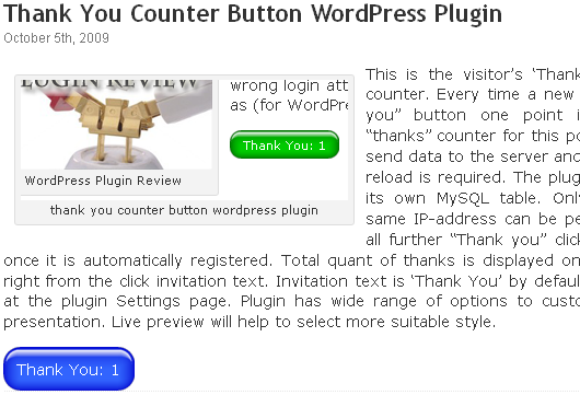 Как сделать спасибо | Thank You Counter Button | n-wp.ru