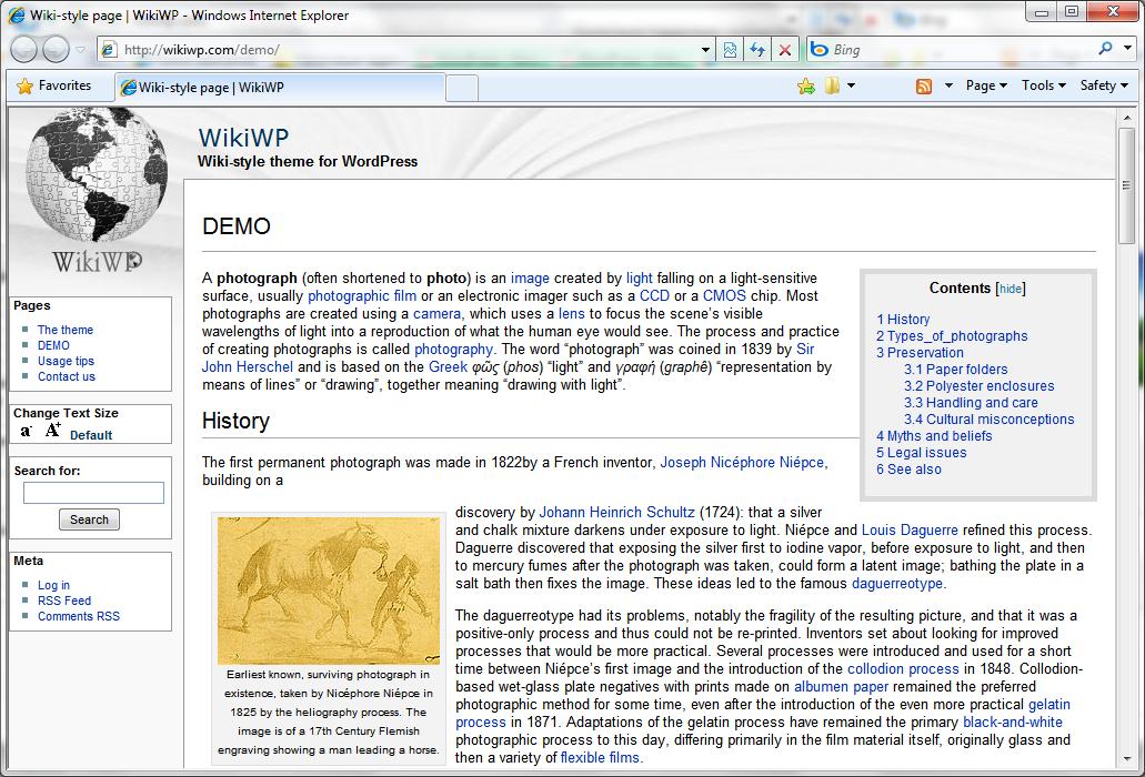 WikiWP — тема как у Википедии | n-wp.ru