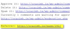 Как защититься от спама | Comment Referrers | n-wp.ru