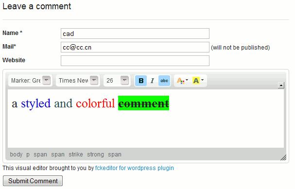 Как добавить панель форматирования в комментарии | Dean's FCKEditor for WordPress | n-wp.ru
