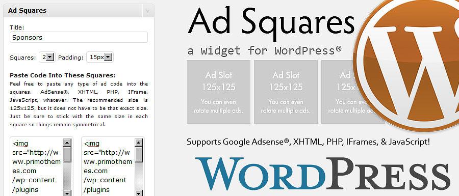 Как добавить баннеры | Ad Squares Widget