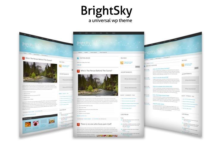 Красивая светлая тема | Bright Sky | n-wp.ru