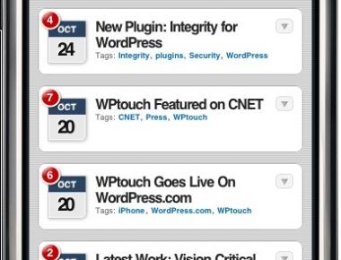 Как из блога сделать айфон | WPtouch iPhone Theme | n-wp.ru