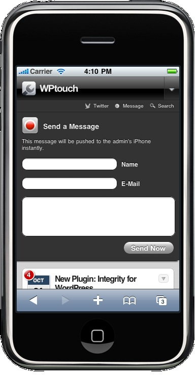 Как из блога сделать айфон   WPtouch iPhone Theme
