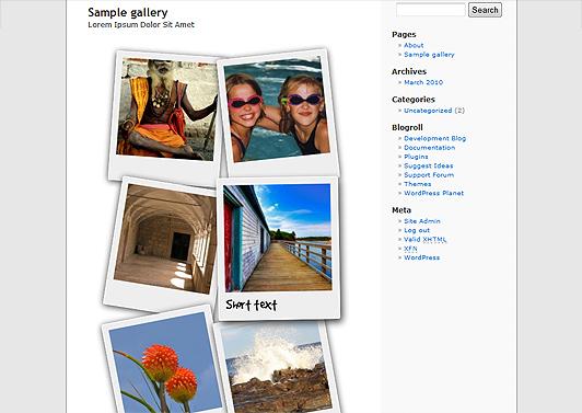 Как сделать красивую галерею фотографий | Polaroid Gallery | n-wp.ru