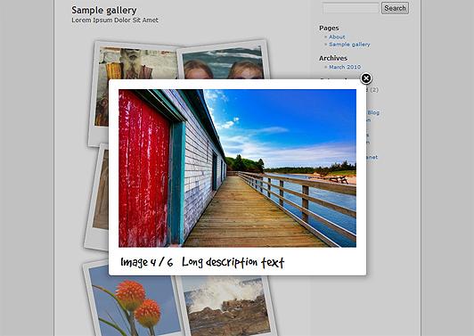 Как сделать красивую галерею фотографий | Polaroid Gallery