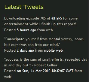 Как вывести последние сообщения из Твиттера | tweetbox | n-wp.ru