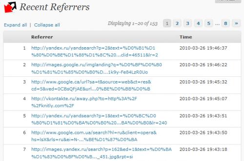 Как узнать сайты, с которых посетители попадают в блог   WP-Referrers   n-wp.ru
