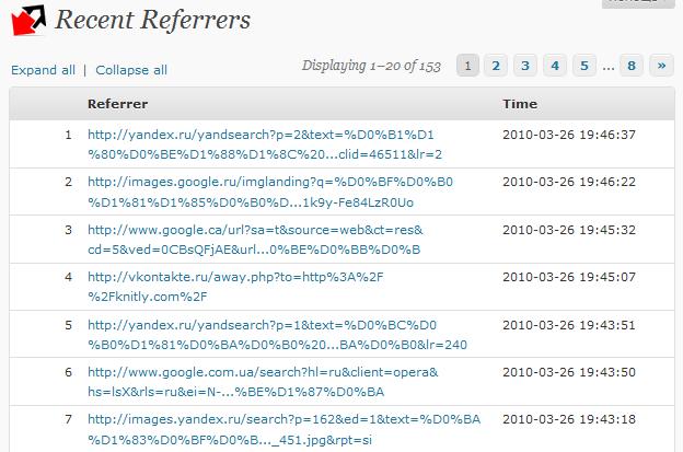 Как узнать сайты, с которых посетители попадают в блог | WP-Referrers | n-wp.ru