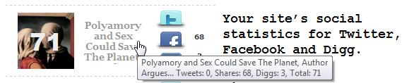 Как показать статистику из Twitter и Facebook   Share Pulse