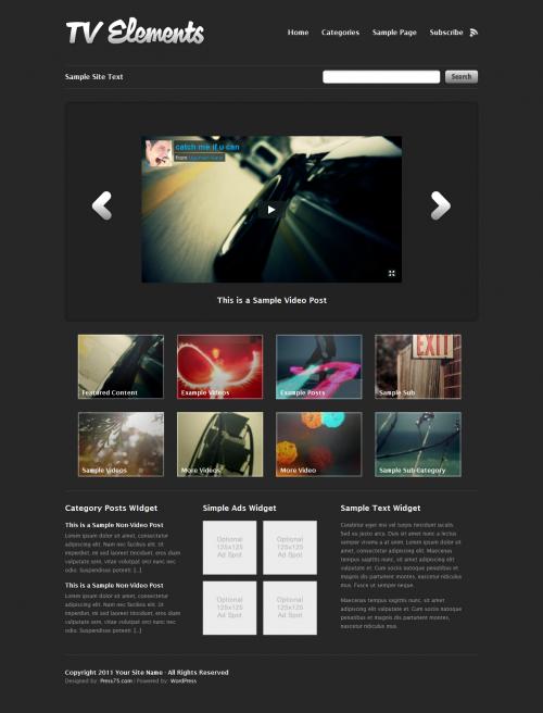 Великолепная платная тема для видеоблога | TV Elements | n-wp.ru
