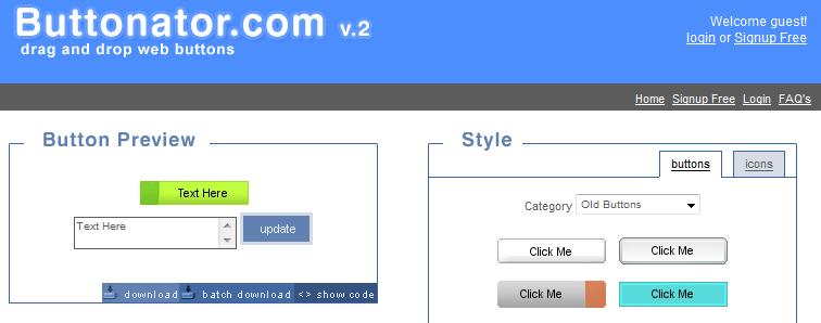 Как сделать кнопки для блога | Buttonator | n-wp.ru