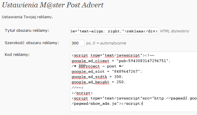 Как вставлять рекламу в пост | Master Post Advert | n-wp.ru