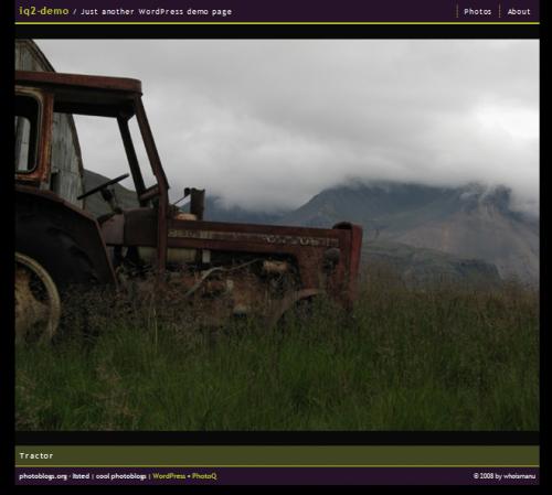 Красивая темная тема для фотоблога | iQ2 | n-wp.ru