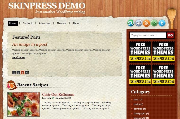 Тема для кулинарного блога | Recipy | n-wp.ru