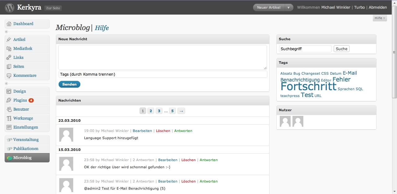 Как сделать закрытый блог для авторов и разработчиков | WP Admin Microblog | n-wp.ru