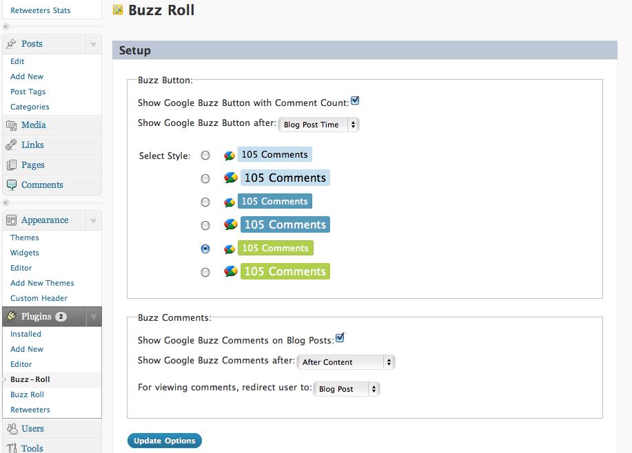 Как вывести комментарии из Google Buzz | Buzz Roll