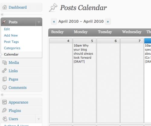 Как сделать календарь для редакторов   Editorial Calendar   n-wp.ru