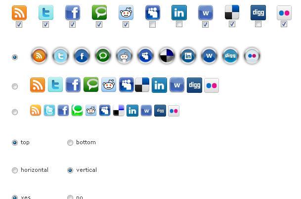 Как показать значки социальных сетей и сервисов | Fixed Social Buttons | n-wp.ru