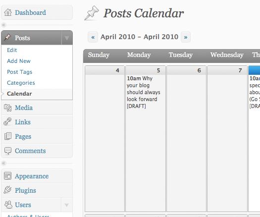 Как сделать календарь для редакторов | Editorial Calendar | n-wp.ru