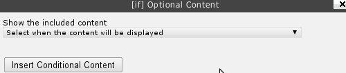 Как показывать часть содержимого при определенных условиях | Optional Content