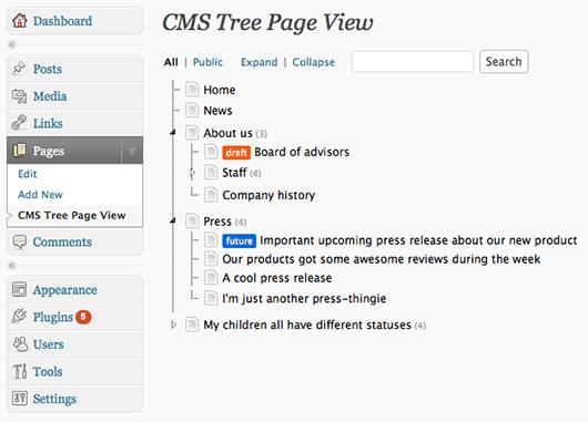 Как сделать работу со страницами в админке удобнее | CMS Tree Page View | n-wp.ru