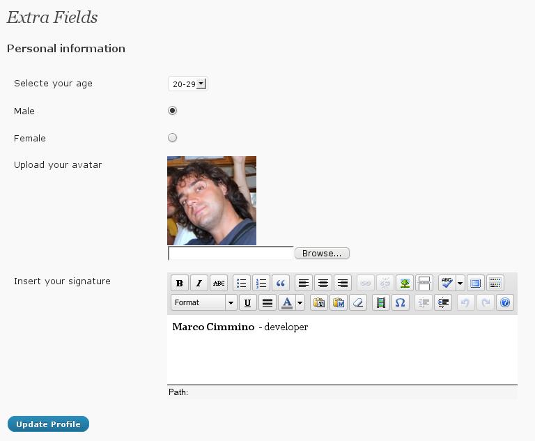 Как добавить дополнительные поля и фото в профиль пользователя | Cimy User Extra Fields | n-wp.ru