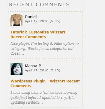 Как вывести последние комментарии | Wizzart - Customizable Recent Comments