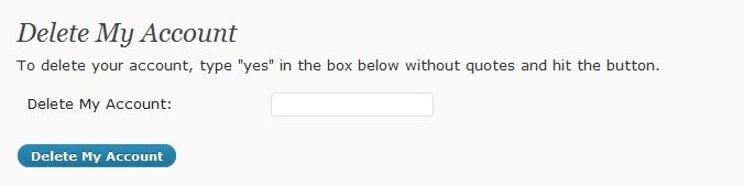 Как зарегистрированному пользователю удалить свой аккаунт | User Self Delete | n-wp.ru