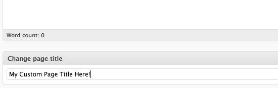 Как добавлять свой заголовок страницы без плагинов | n-wp.ru