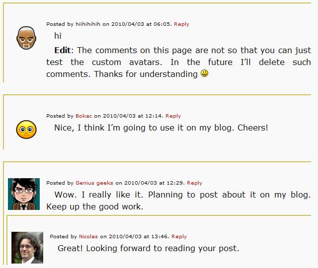 Что делать, если у комментатора нет своего аватара | Custom Avatars For Comments | n-wp.ru