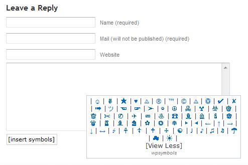 Как вставить спецсимволы в комментарии | wpsymbols | n-wp.ru