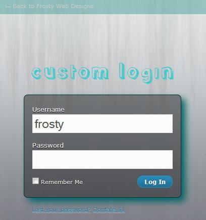 Как изменить форму входа | Custom Login | n-wp.ru