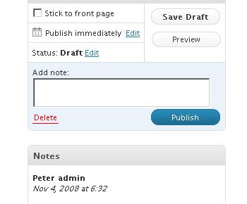 Как добавить примечания к черновикам | Peter's Post Notes | n-wp.ru