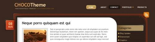 Стильная шоколадная тема   ChocoTheme   n-wp.ru