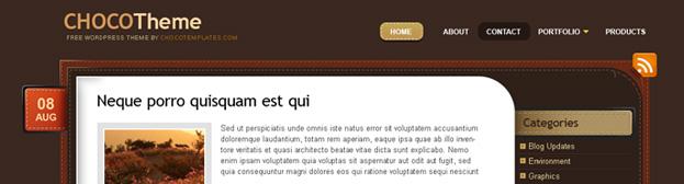 Стильная шоколадная тема | ChocoTheme | n-wp.ru