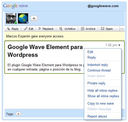 Как добавить Google Wave в блог | Google Wave Element | n-wp.ru