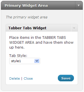 Как добавить табы в сайдбар | Tabber Tabs Widget
