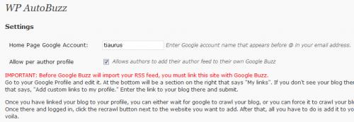 Как автоматически отправлять публикации в Google Buzz   WP AutoBuzz   n-wp.ru