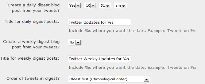Интеграция Твиттера в блог с помощью Twitter Tools