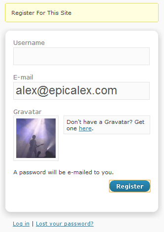 Как добавить граватар в форму регистрации | Gravajax Registration | n-wp.ru