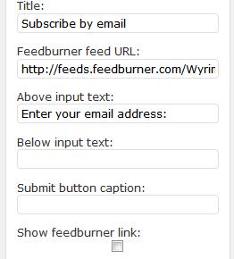 Как вставить форму подписки по электронной почте через FeedBurner   Feedburner Email Widget   n-wp.ru