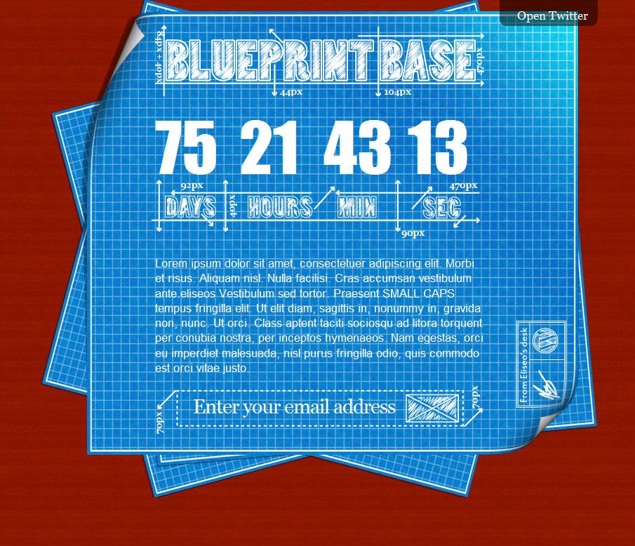 Красивая временная тема-заглушка   WP Blueprint   n-wp.ru