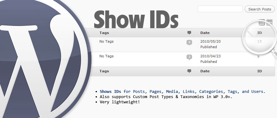 Как показать ID записей в блоге | WP Show IDs ( simple, yet elegant ) | n-wp.ru