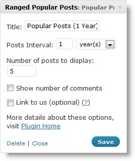 Как вывести популярные посты | Ranged Popular Posts