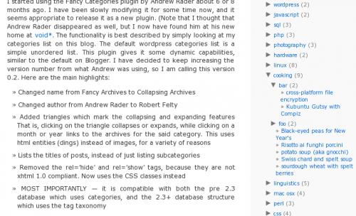 Как сделать разворачивающиеся категории | Collapsing Categories | n-wp.ru